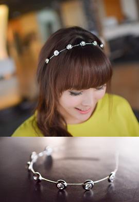 60696 - 동그라미보석 머리띠