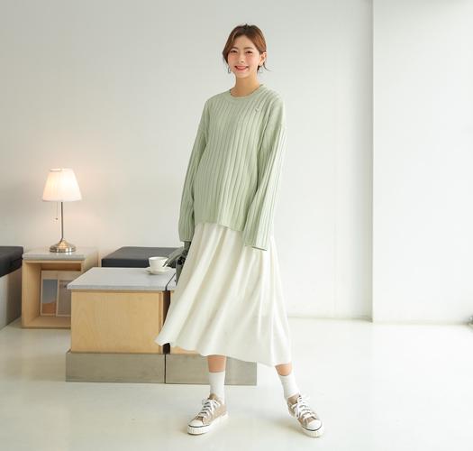 104564 - 임부복*벚꽃 골지니트