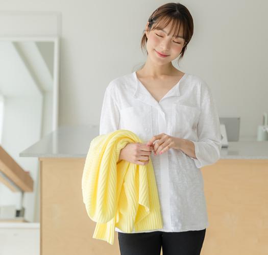 105356 - 임부복*슬라브포켓 티셔츠