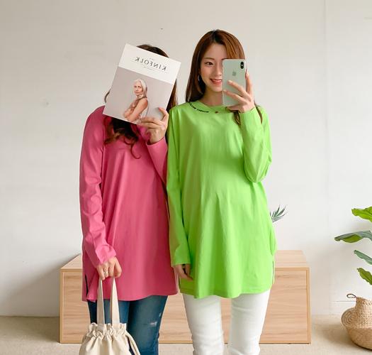 105756 - 임부복*선셋레터링 티셔츠