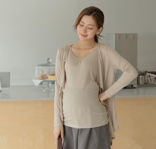 105805 - 임부복*앙상블 나시가디건세트
