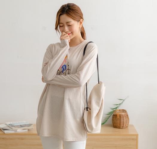 105757 - 수유복*소녀 슬랍티셔츠