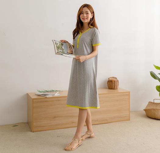 105759 - 수유복*간편한배색 수유원피스
