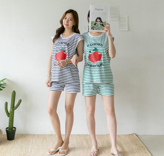 106972 - 수유복*애플단가라 수유세트
