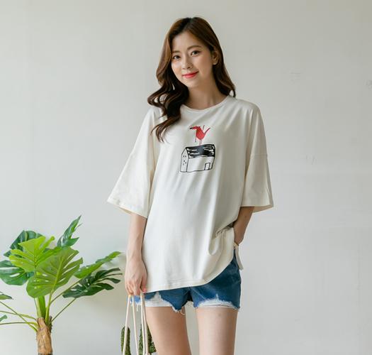107159 - 임부복*즐거운나의집 티셔츠