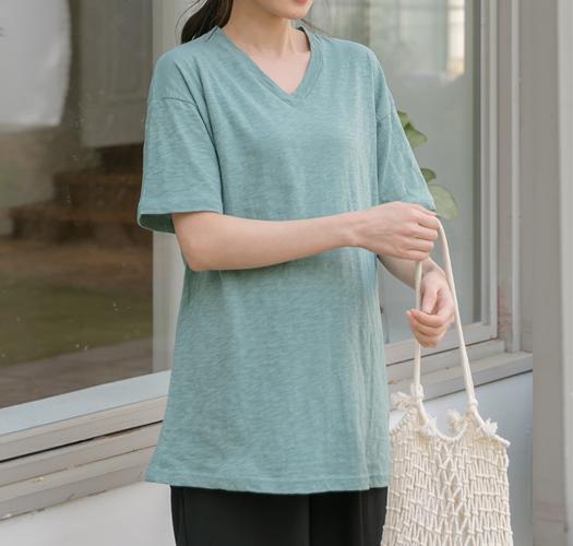 106589 - [기획특가1+1]임부복*브이라인 슬럽티셔츠